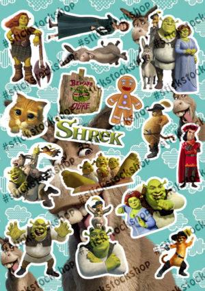 Набор стикеров Шрек Shrek