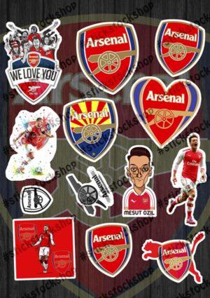 Набор наклеек FC Arsenal ФК Арсенал